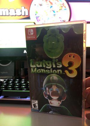 Luigi's Mansion 3 for Nintendo Switch for Sale in Murrieta, CA
