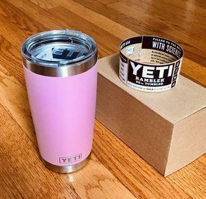 20oz Pink Yeti tumbler rambler for Sale in Matthews, NC