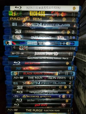 126 movie collection. 52 blu rays and 74 dvds. 59 burned movies for free! Total 185 movies! for Sale in Spring Valley, CA