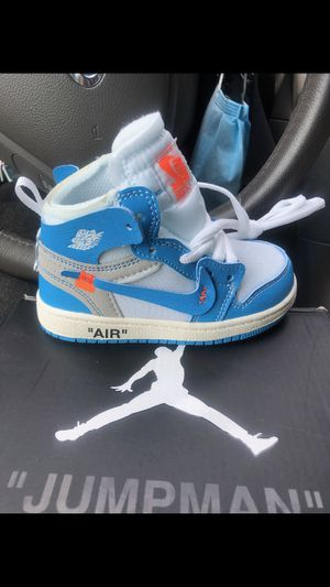 BLUE JORDAN 1 OFF WHITE (SIZE 6.5C) for Sale in Garrison, MD