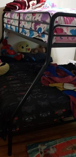 Black Metal Twin Over Full Bunk Bed for Sale in Catonsville,  MD