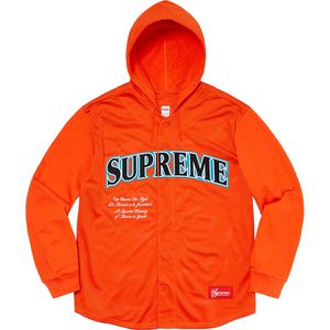 Supreme Mesh Hooded L/S Baseball Jersey for Sale in New Orleans, LA