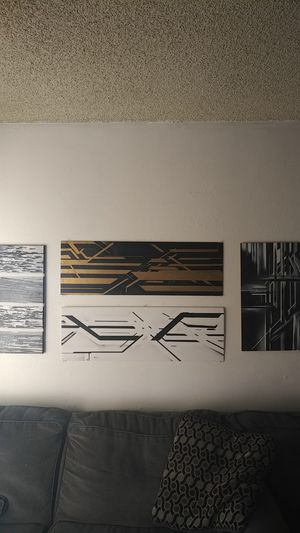 Abstract wall art collage 4pc for Sale in Santa Monica, CA