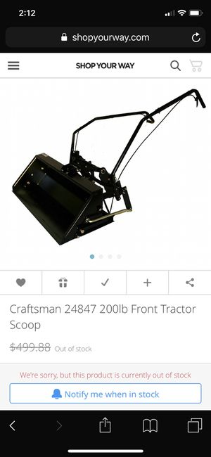 Craftsman front scoop tractor attachments for Sale in Chuckey, TN
