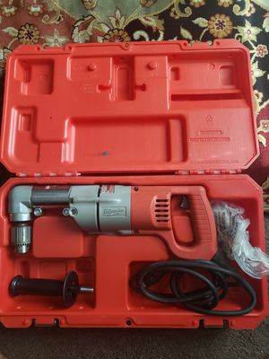 Milwaukee 7 Amp Corded 1/2 in. Corded Right-Angle Drill Kit with Hard Case for Sale in Houston, TX