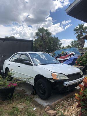 2001 Honda Civic Lx Sedan PART CAR CLEAN TITLE for Sale in Orlando, FL