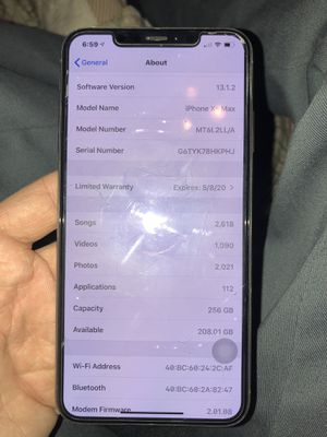 Verizon IPhone XS Max for Sale in Cohasset, CA