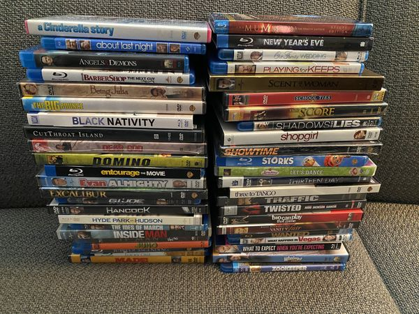 Lot of 46 Movies Mix of Blu-Ray and Dvd