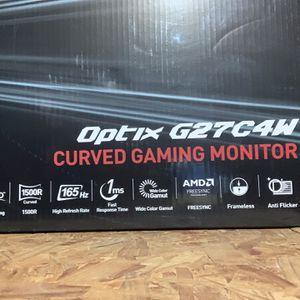 Gaming Monitor Msi Optix G27C4W for Sale in Fort Lauderdale, FL