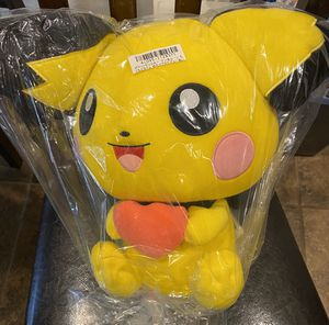 Pikachu Plushy / Brand New With Tags in Packaging / Pick- up in Cedar Hill / Shipping Available for Sale in Cedar Hill, TX