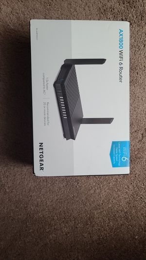 *REDUCED PRICE* Netgear AX1800 wifi 6 router for Sale in Fort Myers, FL