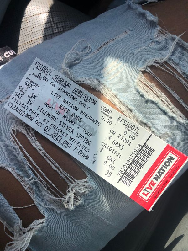 Rick Ross Tickets (2)