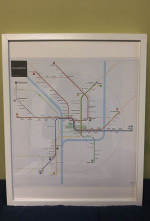 Metro DC map art work with frame decoration for Sale in Washington, DC