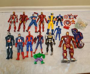 Marvel Action Figure Toys Lot - Iron Man, Cap America, Spiderman, etc. for Sale in Riverview, FL