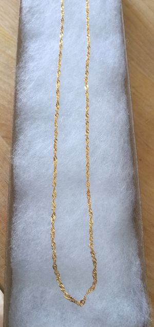 24 inch 925 Italian Sterling Silver Singapore 24k gold plated for Sale in West Covina, CA
