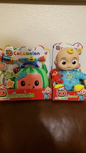 Cocomelon Musical Bedtime JJ doll and Musical Doctor Checkup set for Sale in Mesa, AZ