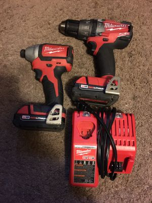 Milwaukee 18v impact and hammer drill set for Sale in Joint Base Lewis-McChord, WA
