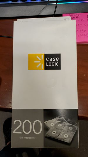 Case Logic 200, ProSleeves For CD Binders, Box of 25 for Sale in Gilbert, AZ
