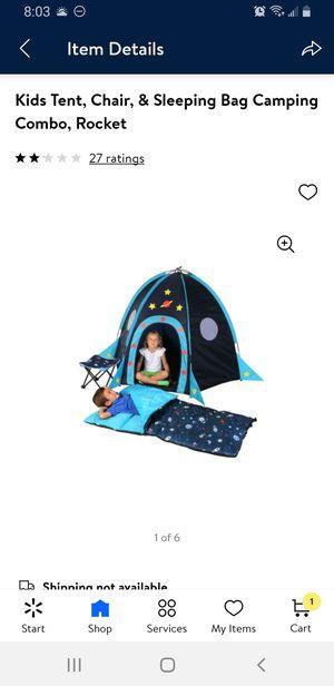 Children's camping set Rocket for Sale in El Paso, TX