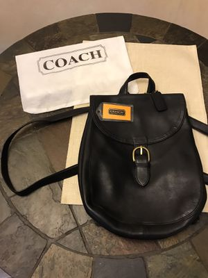 Coach Black Letter backpack/Purse for Sale in San Antonio, TX