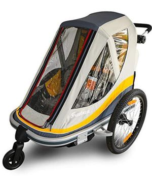 Freetown Sweetroll two child bike trailer with stroller conversion kit for Sale in Evansville, IN