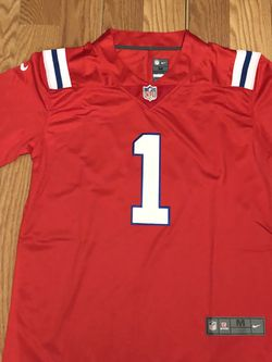 Cam Newton New England Patriots Men's Red Jersey MEDIUM for Sale in Lawndale,  CA