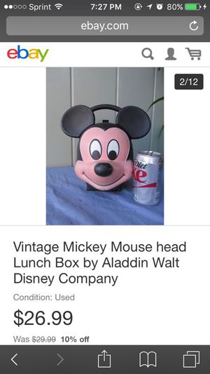 Vintage Mickey Mouse lunchbox for Sale in Newark, CA