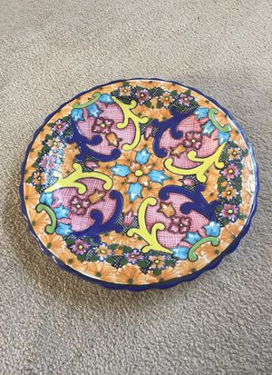 Beautiful decorative plate signed, made in Mexico for Sale in Herndon, VA