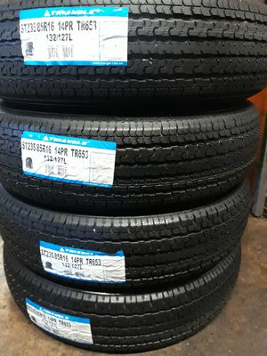 4 NEW TRAILER TIRES. ST235/85/16. (14) PLY for Sale in San Antonio, TX