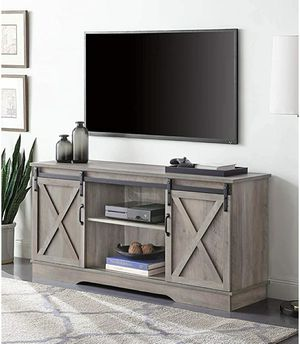 "Modern 58"" Sliding Television Stand Media Console for TVs Up to 65"", Gray Wash for Sale in Fresno, CA"