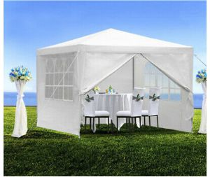 Brand new 10' x 10 Canopy Party Tent Events White Wedding Patio Gazebo with 4 Side Walls for Sale in Los Angeles, CA
