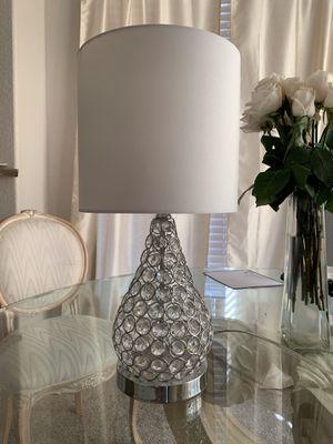 modern glam crystal lamp for Sale in Scottsdale, AZ