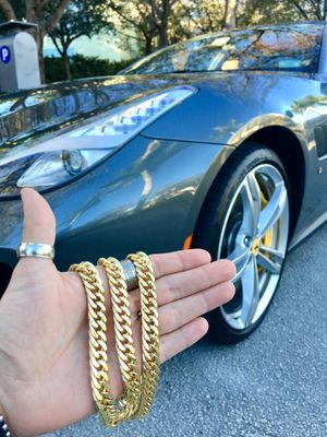 DOUBLE CUBAN LINK CHAIN 18K GOLD MADE IN ITALY. for Sale in Orlando, FL