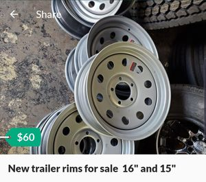 "New trailer rims for sale 16"" and 15"" for Sale in Houston, TX"