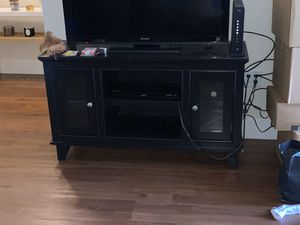 Black Wood TV Stand for Sale in Revere, MA