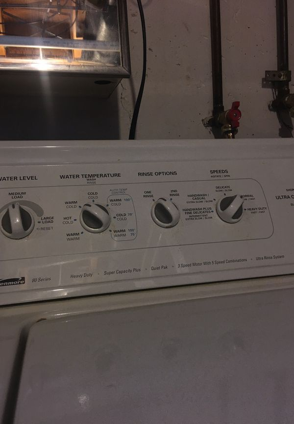Kenmore washer 80 series and Frigidaire Crown Heavy Duty Dryer