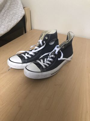 Navy Blue High Converse size 9 for Sale in San Rafael, CA