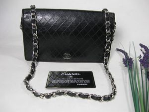 Chanel Black Calfskin Leather CC Long Full Flap Bag Wallet for Sale in McHenry, IL