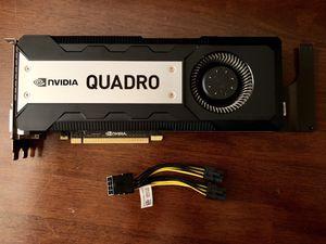 NVidia Quadro K6000 12GB GDDR5 PCIe 3.0 x16 Professional CAD Video Card for Sale in Huntersville, NC