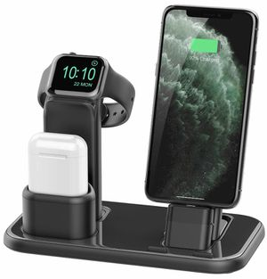 Upgraded 3 in 1 Charging Stand for iWatch Series 5/4/3/2/1, Charging Station Dock Compatible with Airpods iPhone 11/11pro/max/Xs/X Max/XR/X/8/8Plus/7 for Sale in Irving, TX