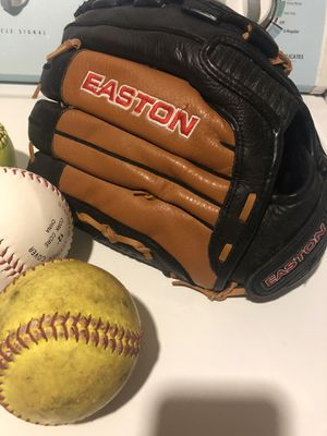 Baseball glove and softballs for Sale in Ypsilanti, MI