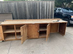 """Free Long work bench - 11' long 31"""" deep, 36"""" tall for Sale in Midlothian, TX"""