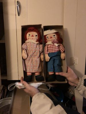 Antique Raggedy Ann and Andy Dolls, 1951 for Sale in Hartville, OH