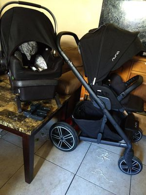 Nuna mixx2 Stroller and car seat and base for Sale in Riverside, CA