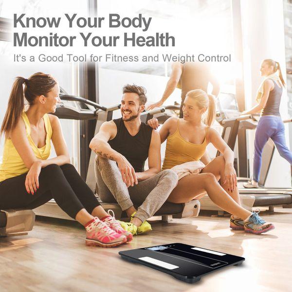 Bluetooth Digital Bathroom Smart Body Weight Scale 400lb Body Fat BMI Analyzer APP Brand New