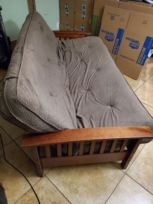 Beautiful Brown Futon bed barely used for Sale in Las Vegas, NV