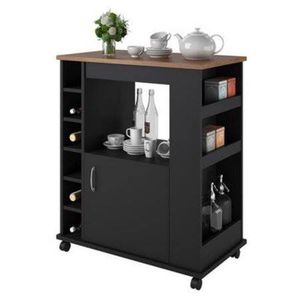 Kitchen Cart, Black/Old Fashioned Pine - $89 (houston) condition: new Kitchen Cart adds extra storage to your kitchen to help you stay organized T for Sale in Houston, TX