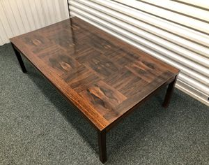 Mid century Rosewood Heggen of Norway coffee table for Sale in Barrington, IL