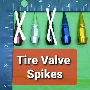 Set of 4 Tire Rim Spikes tire air valve CAP ☆$10☆ Dodger Blue , Gold , Silver for Sale in City of Industry, CA