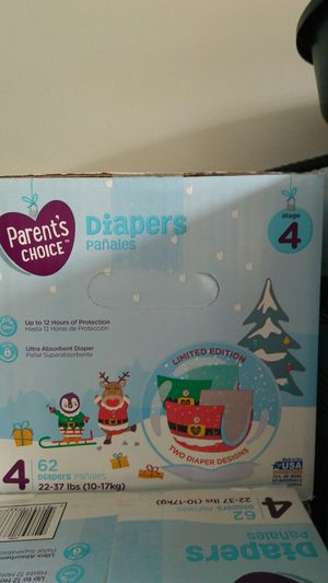 Brand new size 4 or 5 box of parent's choice diapers for Sale in US